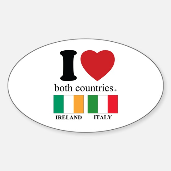IRELAND-ITALY Sticker (Oval)