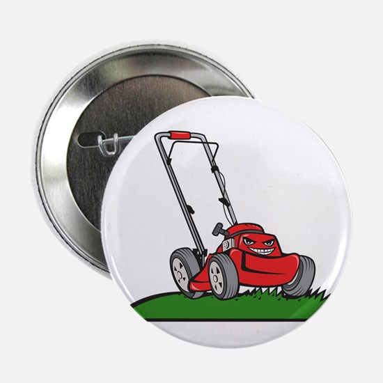 "Lawnmower Front Isolated Cartoon 2.25"" Button (10"