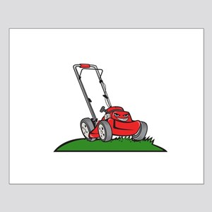 Lawnmower Front Isolated Cartoon Posters