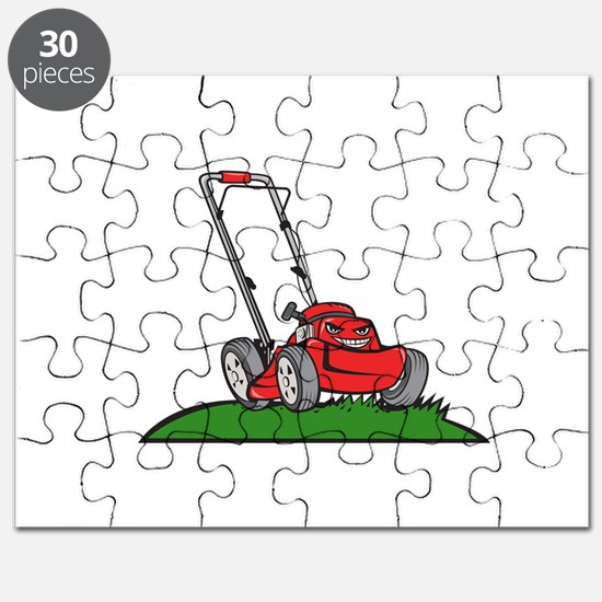 Lawnmower Front Isolated Cartoon Puzzle
