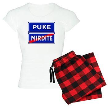 Puke, Albania Women's Light Pajamas