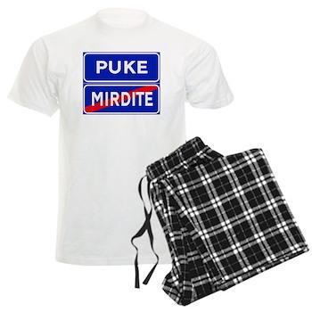 Puke, Albania Men's Light Pajamas