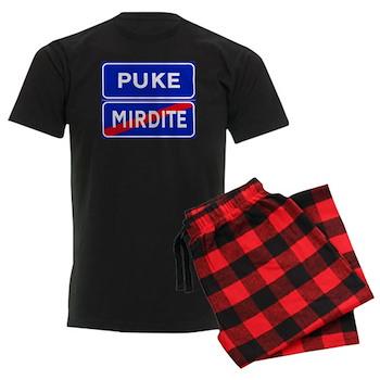 Puke, Albania Men's Dark Pajamas