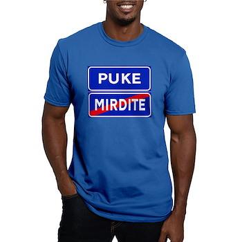 Puke, Albania Men's Fitted T-Shirt (dark)