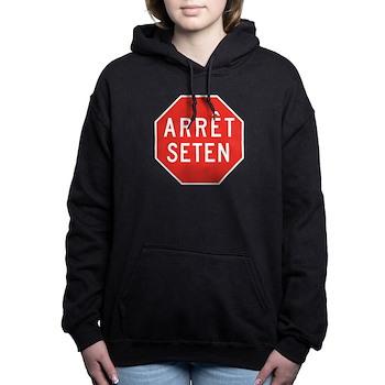 Stop Huron, Quebec (CA) Women's Hooded Sweatshirt