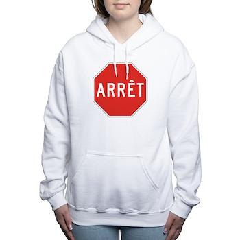 Stop, Quebec (CA) Women's Hooded Sweatshirt