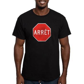Stop, Quebec (CA) Men's Fitted T-Shirt (dark)