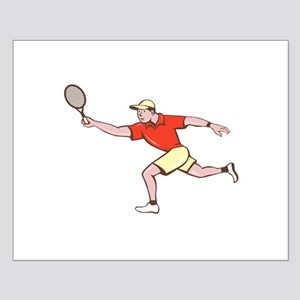 Tennis Player Racquet Forehand Cartoon Posters