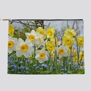 White and yellow daffodils Makeup Bag