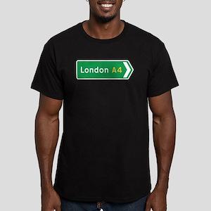 London Roadmarker, UK Men's Fitted T-Shirt (dark)
