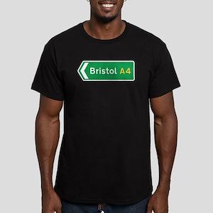 Bristol Roadmarker, UK Men's Fitted T-Shirt (dark)