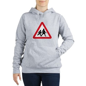 Children Crossing, UK Women's Hooded Sweatshirt