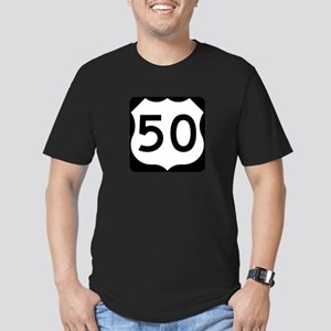 US Route 50 Men's Fitted T-Shirt (dark)