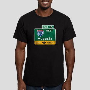 Augusta, GA Highway Sign Men's Fitted T-Shirt (dar