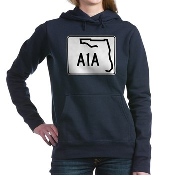 Route A1A, Florida Women's Hooded Sweatshirt