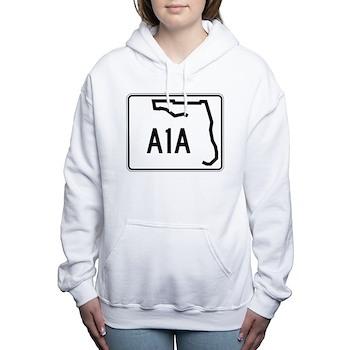 Route A1A, Florida Women's Hooded Sweatshirt