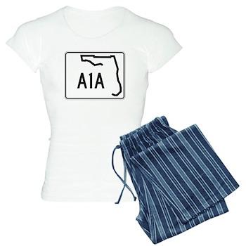 Route A1A, Florida Women's Light Pajamas
