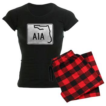 Route A1A, Florida Women's Dark Pajamas