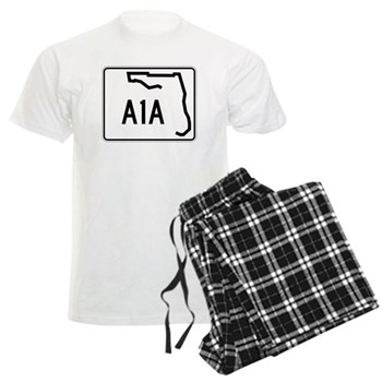 Route A1A, Florida Men's Light Pajamas