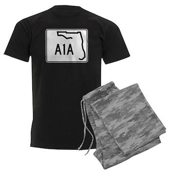 Route A1A, Florida Men's Dark Pajamas