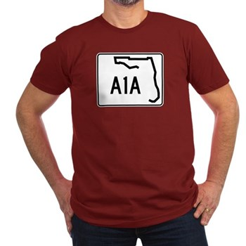 Route A1A, Florida Men's Fitted T-Shirt (dark)