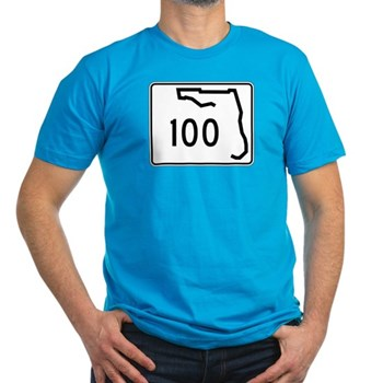 Route 100, Florida Men's Fitted T-Shirt (dark)
