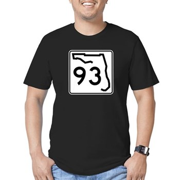 Route 93, Florida Men's Fitted T-Shirt (dark)