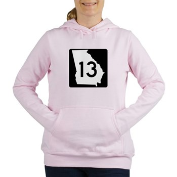 State Route 13, Georgia Women's Hooded Sweatshirt