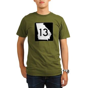 State Route 13, Georgia Organic Men's T-Shirt (dar