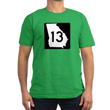 State Route 13, Georgia Men's Fitted T-Shirt (dark