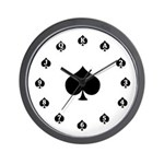 Poker Spades Wall Clock
