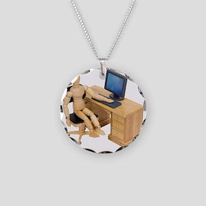 ReadyToWork112409 Necklace Circle Charm