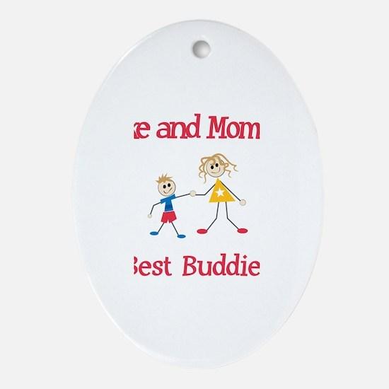 Luke & Mommy - Buddies Oval Ornament