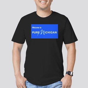 Welcome to Pure Michigan Men's Fitted T-Shirt (dar