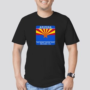 Welcome to Arizona - USA Men's Fitted T-Shirt (dar