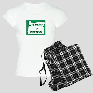 Welcome to Oregon - USA Women's Light Pajamas