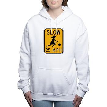 Slow 25 MPH Women's Hooded Sweatshirt
