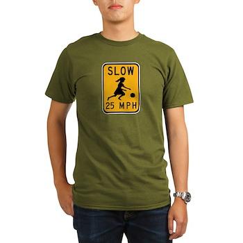 Slow 25 MPH Organic Men's T-Shirt (dark)