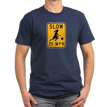 Slow 25 MPH Men's Fitted T-Shirt (dark)
