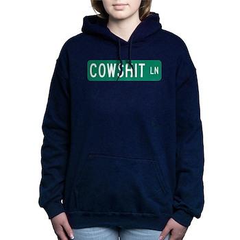 Cowshit Lane, Pennsylvania Women's Hooded Sweatshi