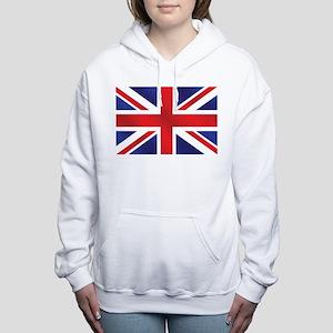 Union Jack UK Flag Women's Hooded Sweatshirt