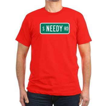 S Needy Road, Canby (OR) Men's Fitted T-Shirt (dar
