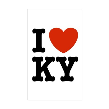 I Love KY (kentucky) Rectangle Sticker