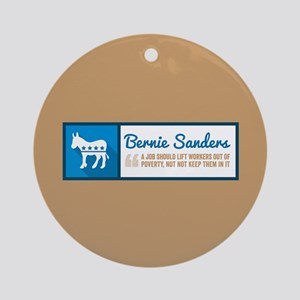 Bernie Sanders Jobs Round Ornament