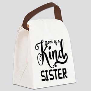 One Of A Kind Sister Canvas Lunch Bag