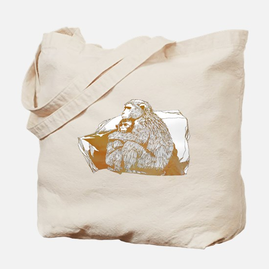 Cute Macaque Tote Bag