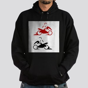 Person riding a bike Hoodie (dark)
