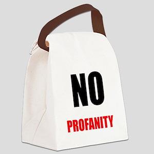 No Profanity Canvas Lunch Bag