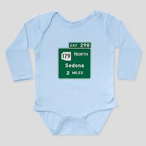 Sedona, AZ Road Sign, USA Long Sleeve Infant Bodys