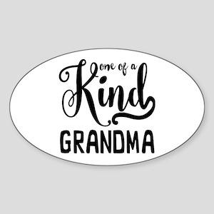 One of a kind Grandma Sticker (Oval)